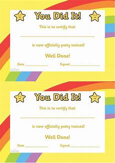 twinkl resources gt gt potty training certificate gt gt classroom printables for pre school