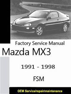 car manuals free online 1996 mazda mx 3 spare parts catalogs mazda mx3 eunos only repair manuals