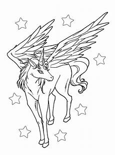 Ausmalbild Einhorn Fliegend Flying Unicorn Coloring Pages At Getcolorings Free