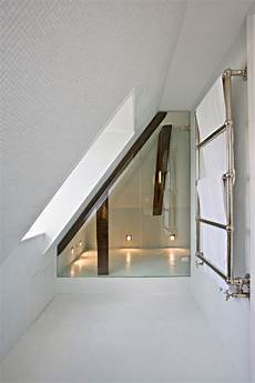 Low Ceiling Attic Bathroom Ideas by Use Of Space Like Colours And Glass And Low Lights