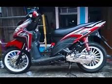 Vario Techno 110 Modif Simple by Honda Vario Techno 110 Dengan Aksesoris Monel Dan Velg