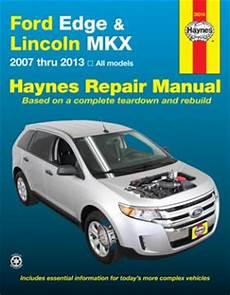manual repair free 2013 lincoln mkx interior lighting ford edge lincoln mkx haynes repair manual 2007 2013 hay36014