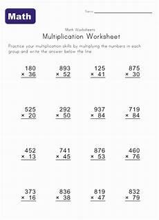 4th grade math worksheet multiplication multiply worksheet 1 multiplication worksheets math