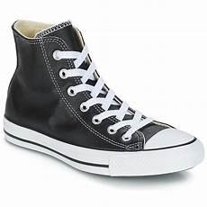 converse chuck all leather hi noir