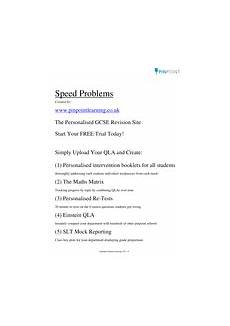 average speed problems gcse worksheet by pinpoint learning