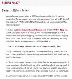how to write an ecommerce return policy template and