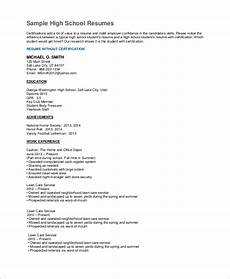 free 7 sle high school resume templates in pdf