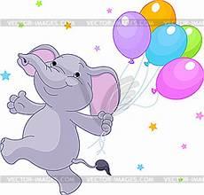 elefant mit luftballons vector design