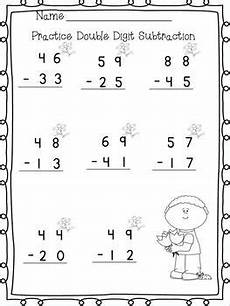 subtraction worksheets without regrouping 2 digits 10732 digit adding subtracting w no regrouping printables
