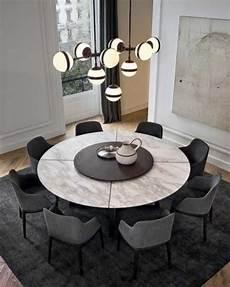 tapis rond sous de table bois salle a manger avec rallonge