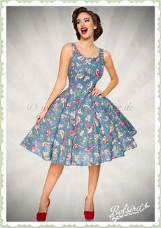 belsira 50er jahre retro rockabilly floral petticoat kleid