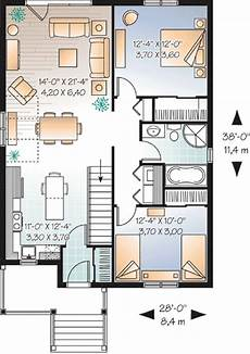 two bedroomed house plans attractive two bedroom house plan 21782dr