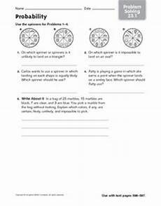 probability worksheets spinners 5883 probability spinners worksheet for 2nd 3rd grade lesson planet