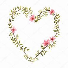 Malvorlage Herz Mit Blumen Aquarell Herz Blumen Stockvektor 169 Wolna Luna 98925976