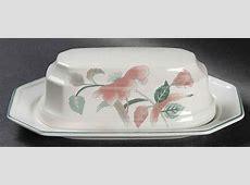 Mikasa SILK FLOWERS 1/4 Lb Covered Butter Dish 394120   eBay