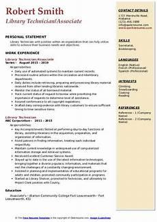 library technician resume sles qwikresume