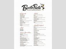 Dinner Menu for Basta Pasta in Timonium, MD   Casual