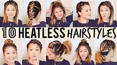 10 heatless hairstyles 5 minutes youtube