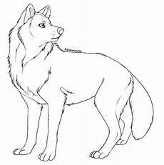 free lineart wolf by kipine on deviantart