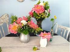 diy summer bouquet bonus centerpiece and boutonniere