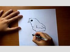 how to draw a hen