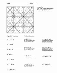 solving single and two step equations color worksheet two step equations worksheets negative
