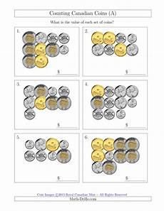 canadian money math worksheets grade 1 2483 counting canadian coins a