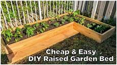 easy cheap diy raised garden bed