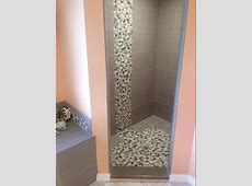 Ideas: Awesome Sliced Pebble Tile For Your Floor And Wall