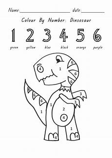 dinosaurs coloring by numbers worksheets 15350 dinosaur foundation 5 y o
