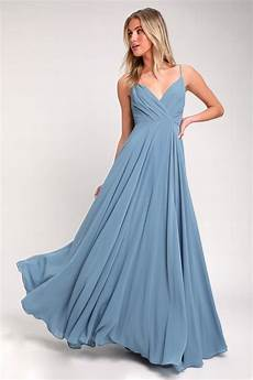 lovely blue maxi dress slate maxi gown bridesmaid dress