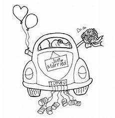 Malvorlagen Hochzeit Auto Malvorlage Hochzeitsauto Ausmalbilder Zum Drucken