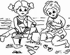 malvorlagen spielende kinder seite 2