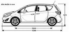Opel Meriva B Abmessungen Technische Daten L 228 Nge