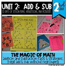 2nd grade magic of math unit 2 addition and subtraction