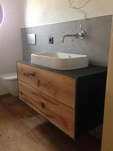 badezimmer holz waschtisch waschtische nach ma 223 aus massiv holz mit metallverkleidung