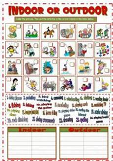 outdoor sports worksheets 15859 indoor or outdoor activities b w key esl worksheet by mada 1