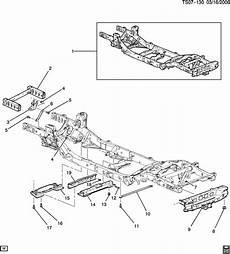 2007 chevy trailblazer engine diagram chevrolet trailblazer crossmember transmission mounting crossmember trans supt 15090722