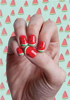 fun watermelon nail designs perfect for summer fashionsy com