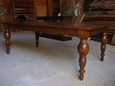 Turned Leg Oak Dining Table Mediterranean Dining Room