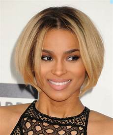 ciara short straight casual bob hairstyle dark blonde