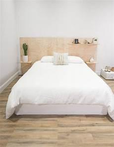 kopfteil bett diy diy minimalist plywood shelf headboard in 2019 w o h n e n wohnung innenarchitektur