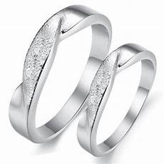 lover s white gold plated wedding ring for couple promise ring anniversary ring with combined