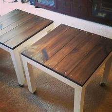 Ikea Lack Tisch Diy - ikea lack hack add a weathered industrial look to your