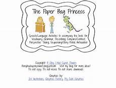 paper bag princess worksheets 15703 tpt overtime sale speech peeps