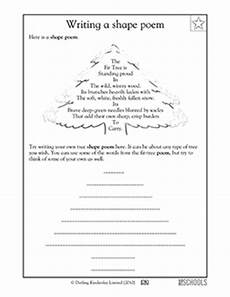 poem worksheet third grade 25391 2nd grade 3rd grade reading writing worksheets poems shape poems greatschools