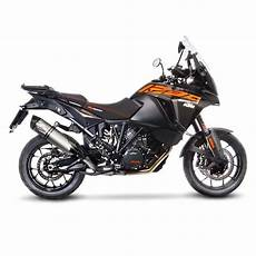 1290 adventure s exhaust leovince lv one evo steel ktm 1290 adventure
