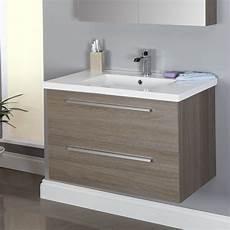 Bathroom Ideas Vanity Units by Vasari Wall Hung Vanity Unit Basin Grey Oak 800mm
