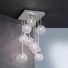 luminaire paul neuhaus paul neuhaus 2776 55 womble 9 light steel ceiling pendant