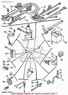 yamaha ysr50t 1987 electrical 1 schematic partsfiche